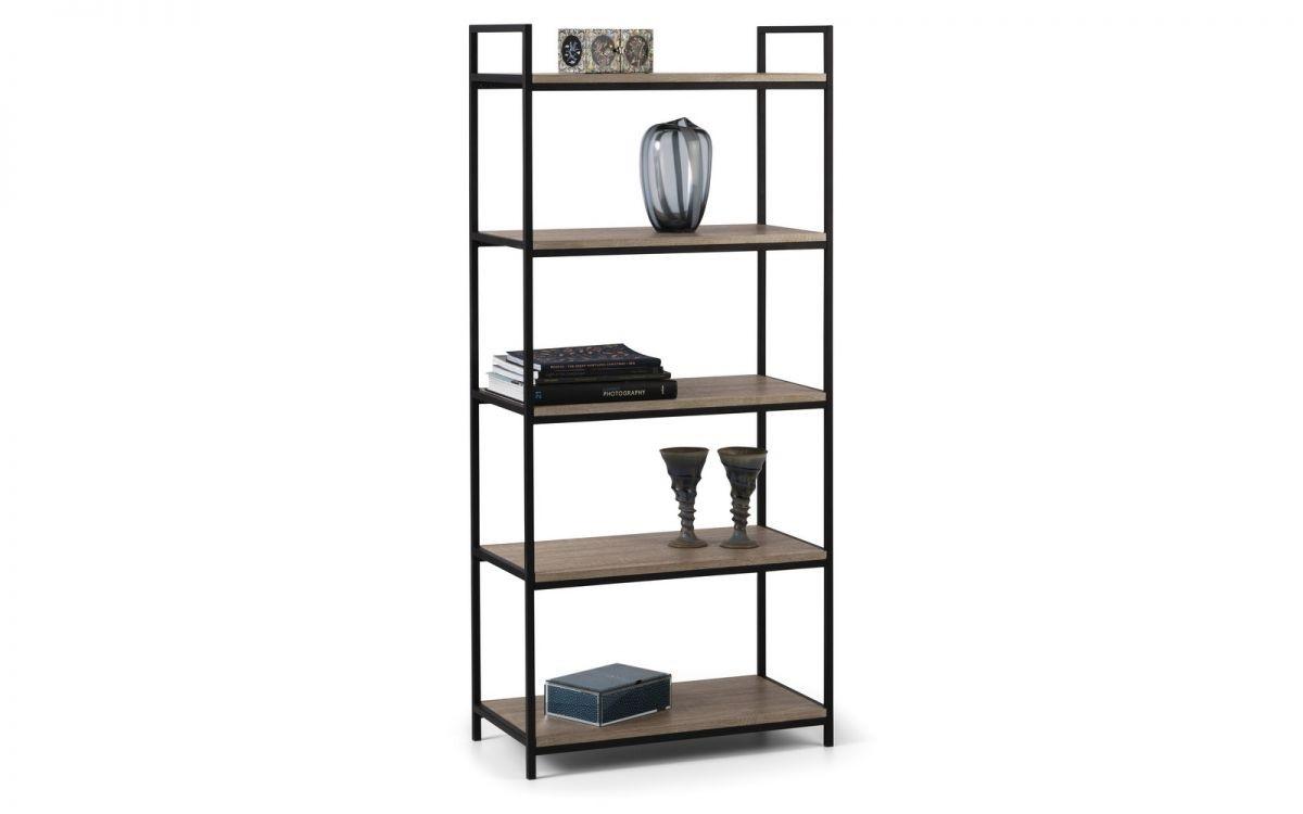 Tribeca Tall Bookcase - Black / Sonoma Oak
