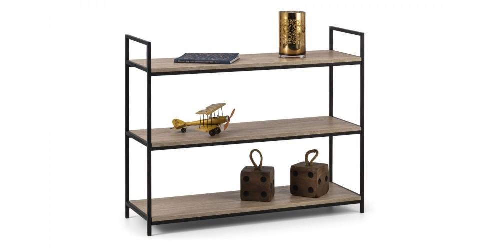 Tribeca Low Bookcase - Black / Sonoma Oak