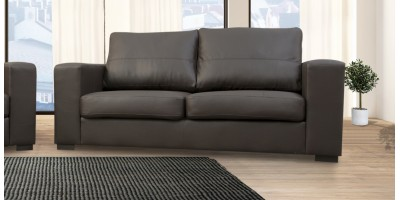 Westpoint 3 Seater Brown PU