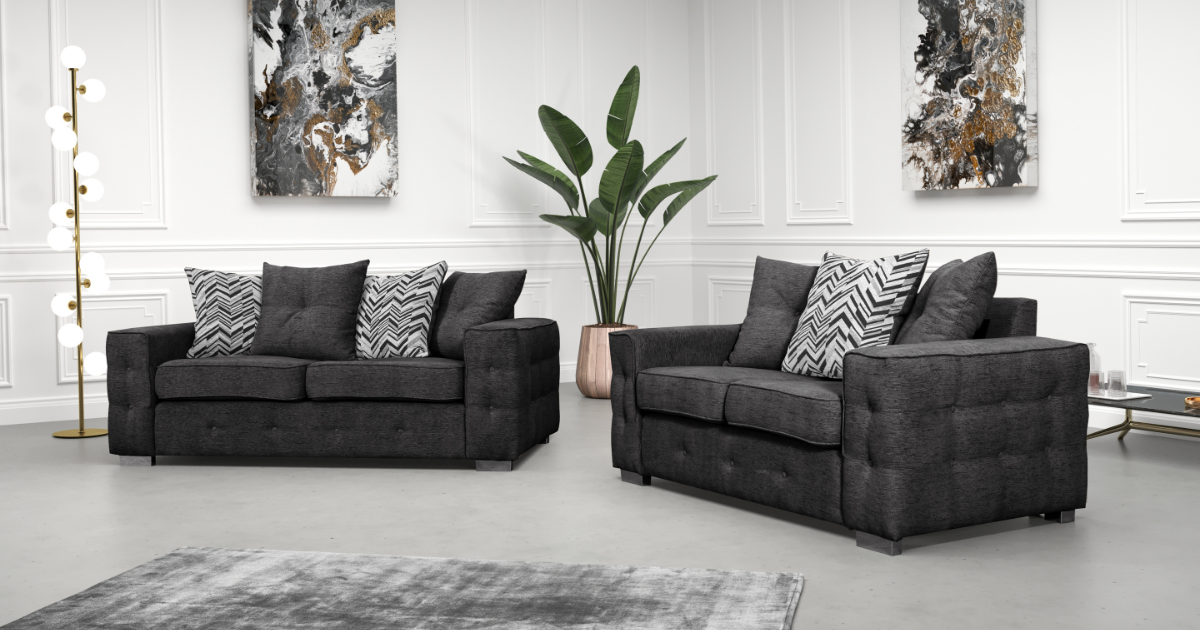 Laxia 3 seater Dark Grey